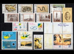 492-509 Zypern (türkisch) Jahrgang 1999 komplett, postfrisch