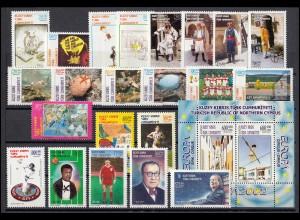552-575 Zypern (türkisch) Jahrgang 2002 komplett, postfrisch