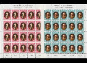 Guernsey 204-205 Europa Bedeutende Persönlichkeiten, Kleinbogen-Satz **