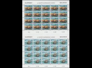 Guernsey, 246+247 Europa, Historische Ereignisse, 2 Werte, Kleinbogen-Satz **
