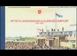Guernsey Markenheftchen 0-7 Flughafen und Flugzeuge 1989 **