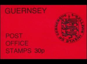 Guernsey Markenheftchen-Verkaufspackung VP 3 Wappen 1979 mit BZN **