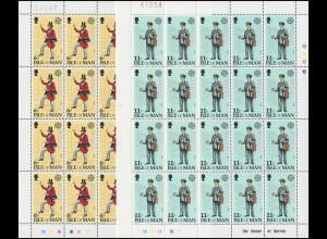 Isle of Man 142-143 Europa Post- und Fernmeldewesen, Kleinbogen-Satz **