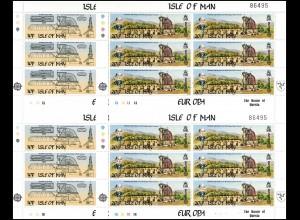 Isle of Man 240-241 Europa Werke des menschlichen Geistes, Kleinbogen-Satz **
