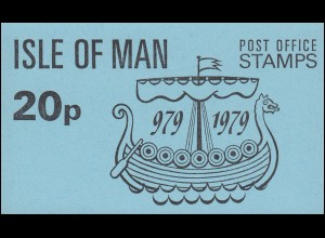 Isle of Man Markenheftchen 1, Tynwald Parlament 20 Pence 1979, ** postfrisch