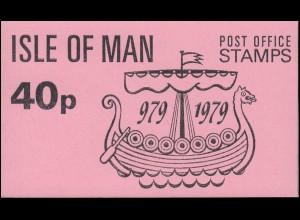 Isle of Man Markenheftchen 3, Tynwald Parlament 40 Pence 1979, ** postfrisch
