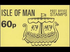 Isle of Man Markenheftchen A 6, Tynwald Parlament 60 Pence 1979, ** postfrisch