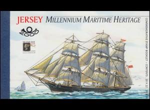 Jersey Markenheftchen 13, Maritimes Erbe - Segelschiffe, **