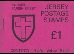 Jersey Markenheftchen 0-17, St. Queen's Parish Crest **