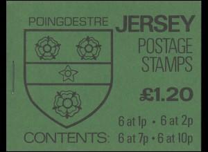 Jersey Markenheftchen 0-23, Wappen 1,20 Pfund 1981, **