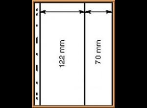 Lindner UNIPLATE 062 schwarz, 2 Streifen vertikal (Höhe 122 / 70 mm), 5 Blätter