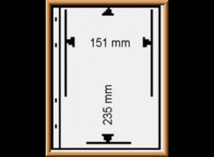 Multi collect-Blätter MU1330 schwarz, 1 Streifen 151x235 mm, 10 Stück