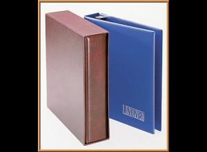 LINDNER UNIPLATE Einbandset 1702 Standard, blau - Ringbinder mit Kassette