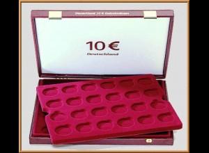 LINDNER Luxus-Kassette für 48 St. 10-€-Gedenkm. Dt