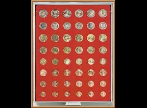 LINDNER Münzenbox/Münzbox Standard für 6 Euro-Kurs-Sätze