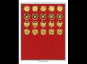 LINDNER Münzenbox Rauchglas für 100-Euro-Goldmünzen