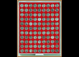 LINDNER Münzenbox/Münzbox Standard für 10 Cent/50 Pf.