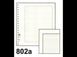 LINDNER Blanko-Blätter 802a 272x296 weiß / schwarze Linie / Netz, 10er-Packung