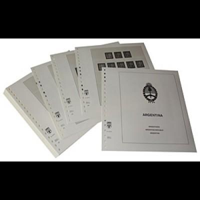 LINDNER-Vordrucke Argentinien 1952-1969